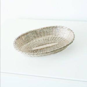 Anthropologie Woven Metal Tray